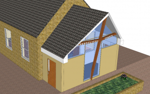 Church plan - with new Front Porch - small
